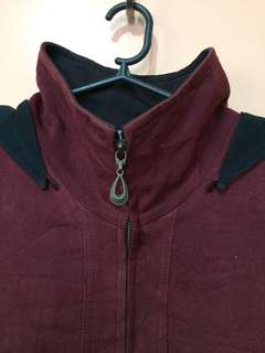 Red jacket (detachable hoodie)