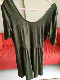 Cotton On Dress in Olive Green