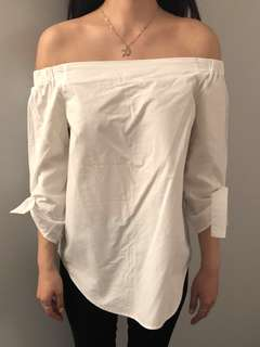 Aritzia off the shoulder blouse