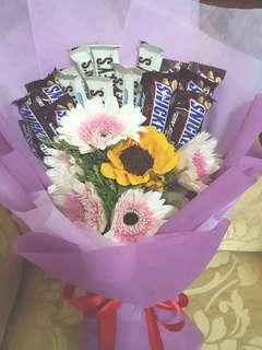 Chocolate Flower Hand Bouquet