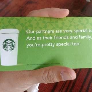 Starbucks coupon 代用券 換券 共7張