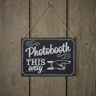 [For Rent] Photobooth This Way Wedding Decor Sign