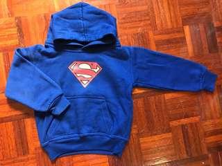 Superman 1–2y fleece hoodie