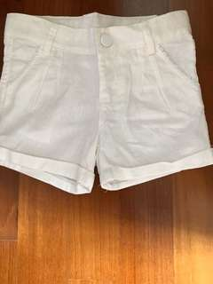 Almost New Mothercare White Shorts