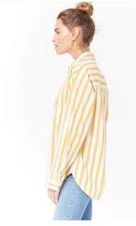 Forever 21 stripe yellow shirt