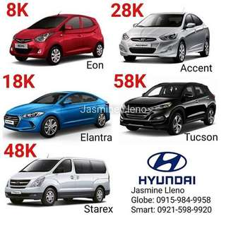 Brand New Hyundai Cars 8k Dp Only!
