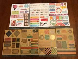 7 pieces stickers for scrapbooking