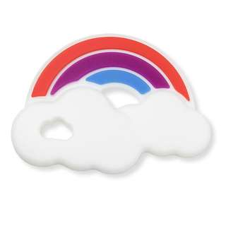 Modern rainbow silicone teether for baby bpa free