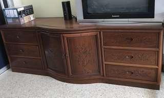 Rosewood Cabinet cum TV Conso