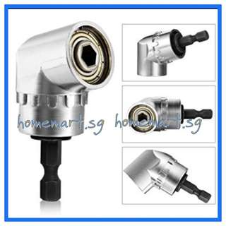 """105° Angle Extension 1/4"""" Hex. Magnetic Drill Bit Screwdriver Holder Adaptor"""