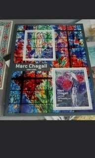 法國繪畫小全張郵票