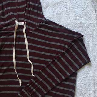 Burgundy Striped Sweater