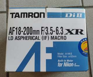 Tamron for Nikon DiII AF 18-200mm