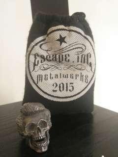 Skull ring / rockabilly metal ring