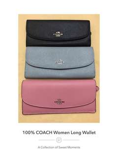 💯% Authentic Coach Women Long Wallet @ Ready Stock >> ON SALE NOW!!!