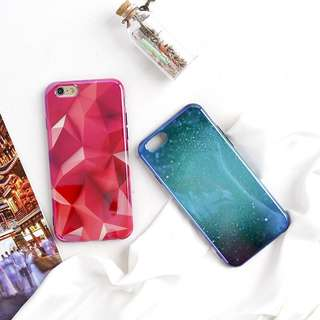 Zenn case red dan galaxy blue
