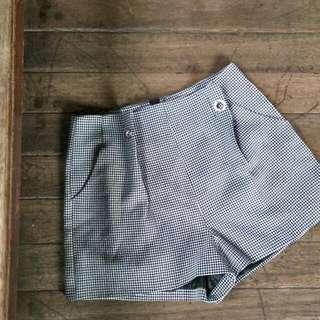 Gingham high Waist checkerd Shorts