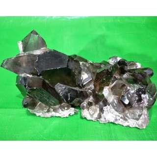 Rare tea crystal clusters, the tea crystal transparent clear,  稀有茶水晶簇, 茶水晶晶莹剔透