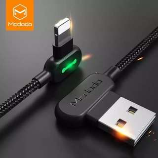 1.8M MCDODO Fast Charging Cord Adapter USB Data Cable iPhone