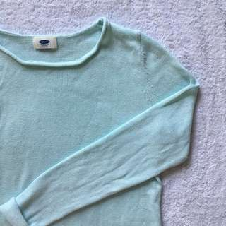 Turquoise Knit Sweater