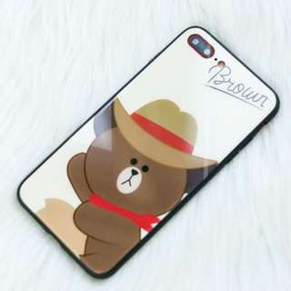 Iphone X Casing - Line - Brown - In Stock