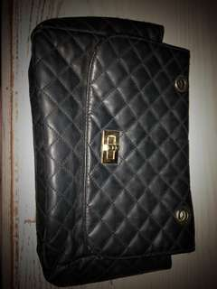 Classic Black and Gold Chanel inspired bag