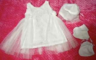 Baptismal dress and hat