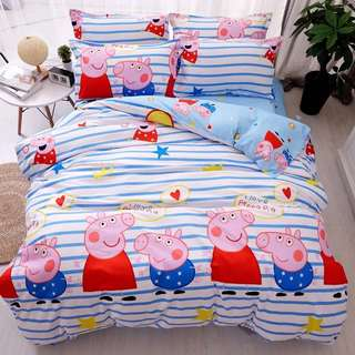 🎊 Promo Peppa Pig Fitted Sheet Set