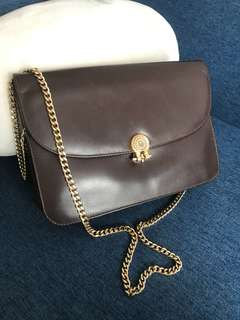 Vintage Dior Leather Crossbody Bag