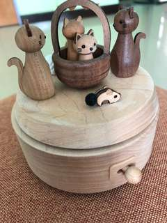 Wooden Music Box (Cat)