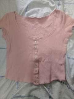 Croptop peach blouse