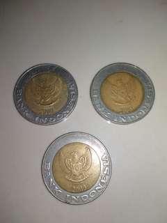 Uang logam 1000 tahun 2000