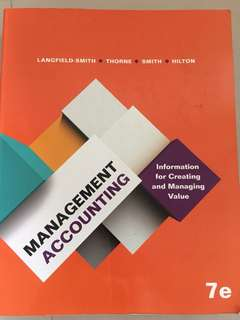 Management Accounting ACC2002/2702