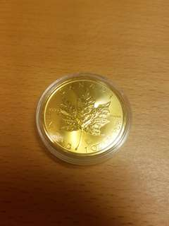 1oz 9999 bullion pure gold maple
