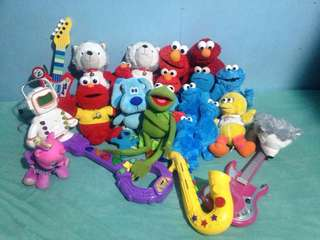 Preloved stuffed toys, talking/moving, musical