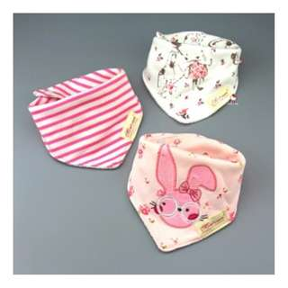 Newborn Baby Girls Baby Boys Momscare Double Button Baby Bibs (3 pieces)