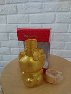 Hello Kitty Water Bottle Limited Edition GOLD - Tupperware Brand