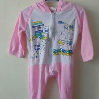 Pink hoodie frogsuit