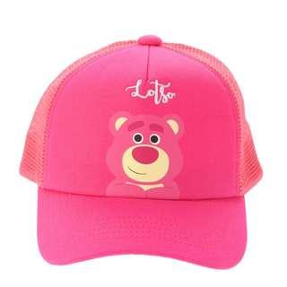 日本 Disney Store 直送 Summer Fun 系列反斗奇兵 Toy Story 勞蘇熊 / 士多啤梨熊 Lotso Cap 帽 / 鴨咀帽