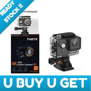 Thieye V6 4k HD Camera with Replaceable Rilters