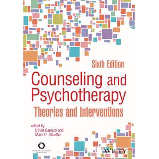 Counseling and Psychotherapy Theories and Interventions 6th Sixth Edition by David Capuzzi, Mark D. Stauffer - American Counseling Association