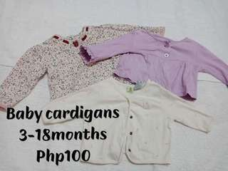 Baby cardigans take all 3