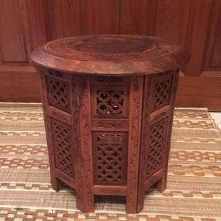 "Foldable Kashmir Wooden ""foldable"" Side Table"
