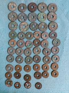 宋朝 清朝 銅錢 55個