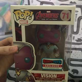 Funko Pop VISION EXCLUSIVE SG EDITION
