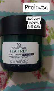 Skin clearing night mask the body shop