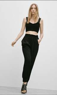 Aritzia Wilfred cuffed high waisted parachute viala pants