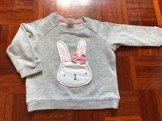 HM bunny sweater