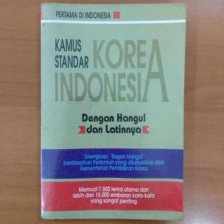 Kamus Standar Korea Indonesia Dengan Hangul dan Latinnya (PRELOVED)