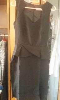 Dorothy Perkins Black Peplum Dress